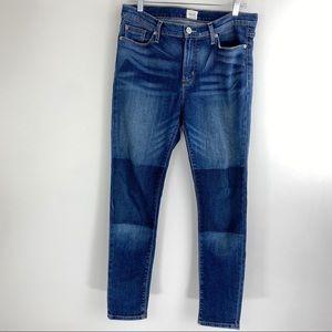 Hudson Mid-Rise Skinny Jean Patch Pocket Detailing